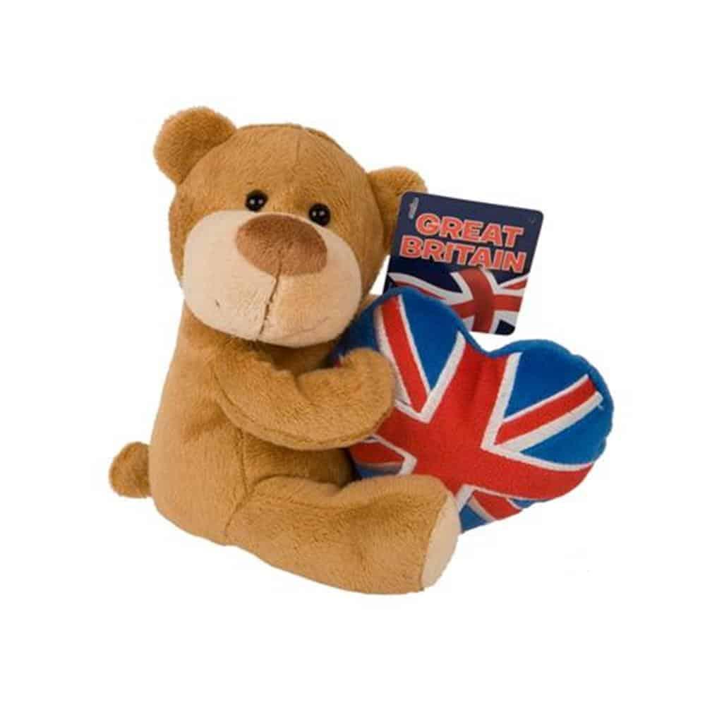 """8"""" Beanie Bear+ Union Jack"""