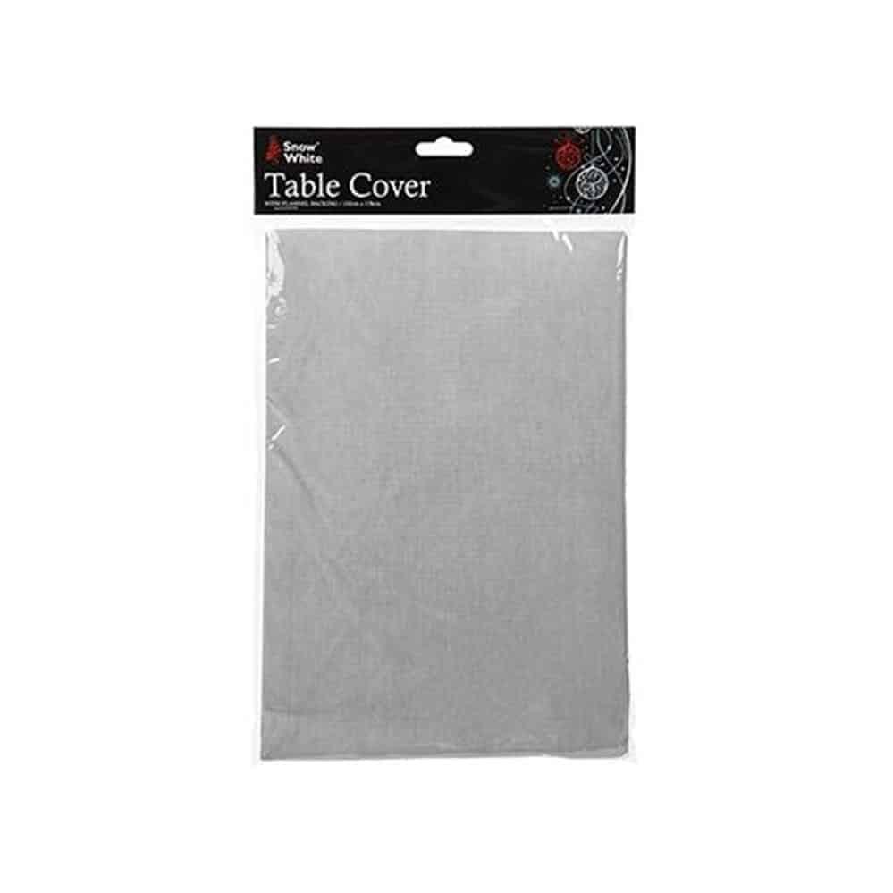 132X178Cm Flannel Silver Tablecloth