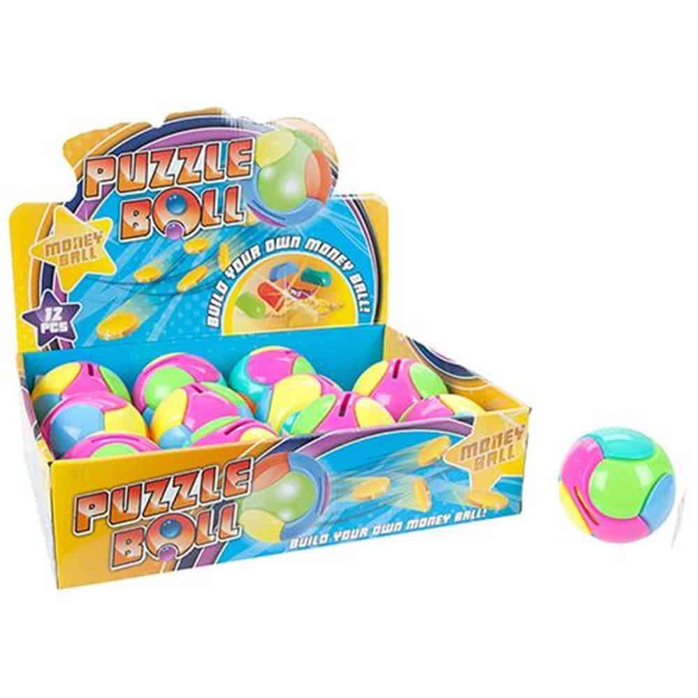 "4"" Puzzle Ball Money Box"