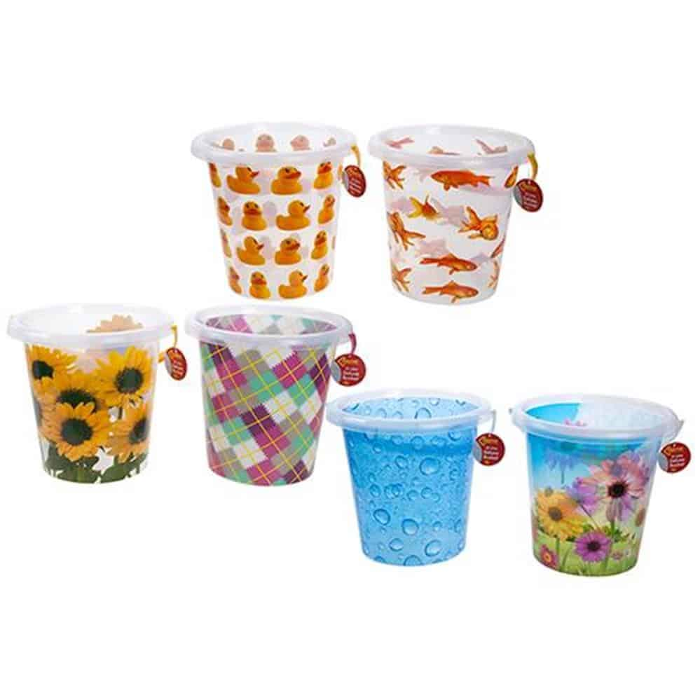 12L Quality Decorated Plastic Bucket