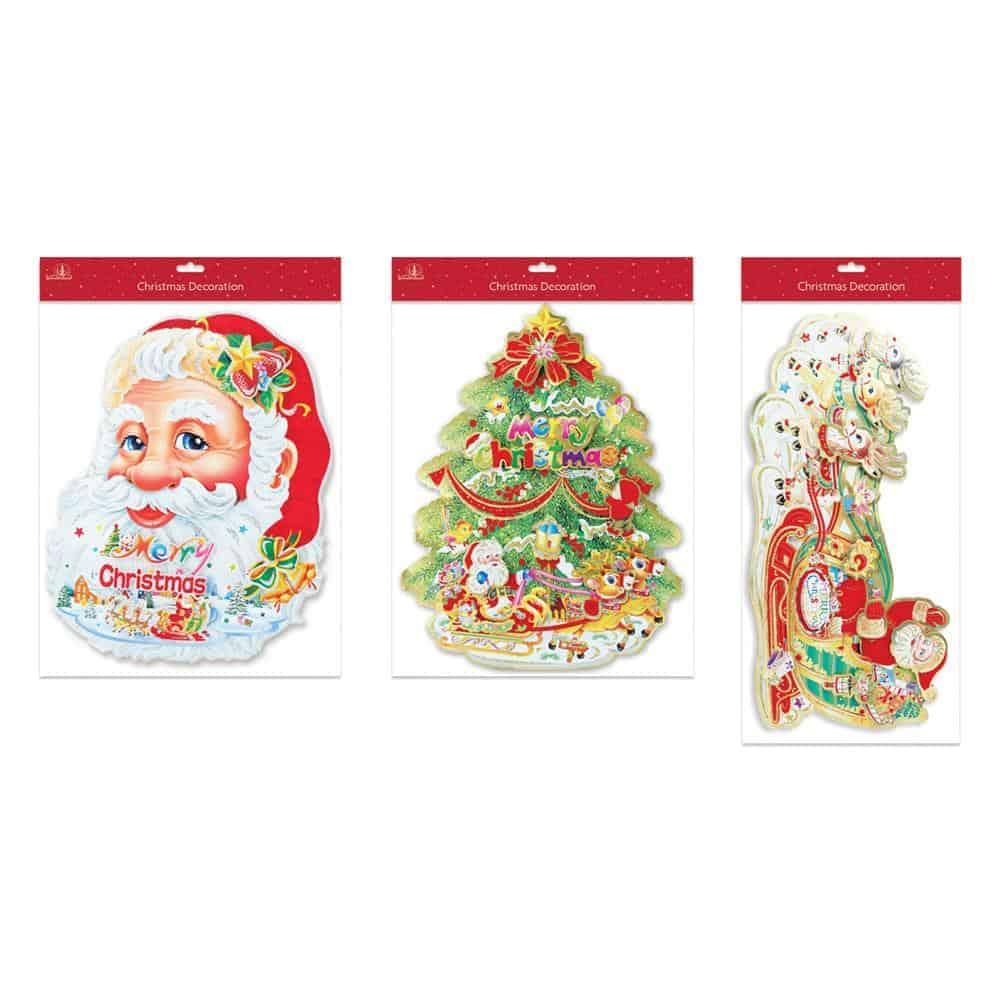 Large Santa & Tree Decoration