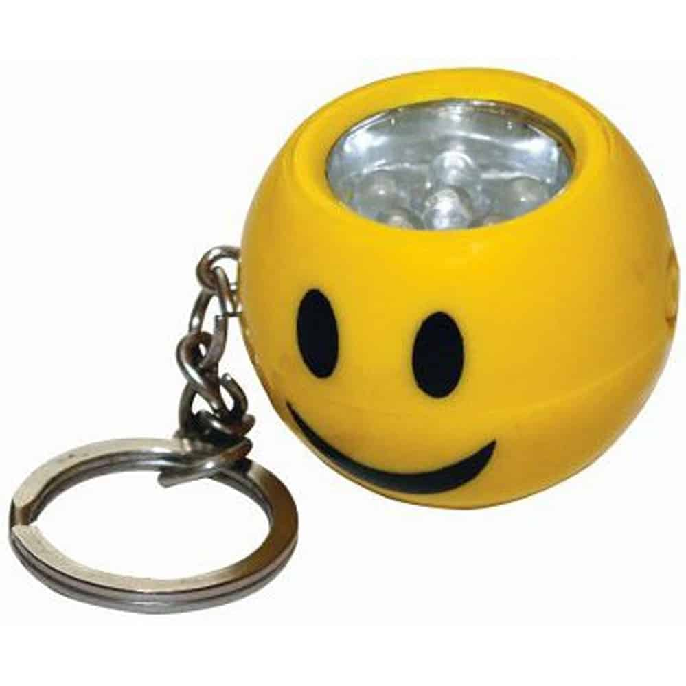Smiley Face 6 Led Keychain