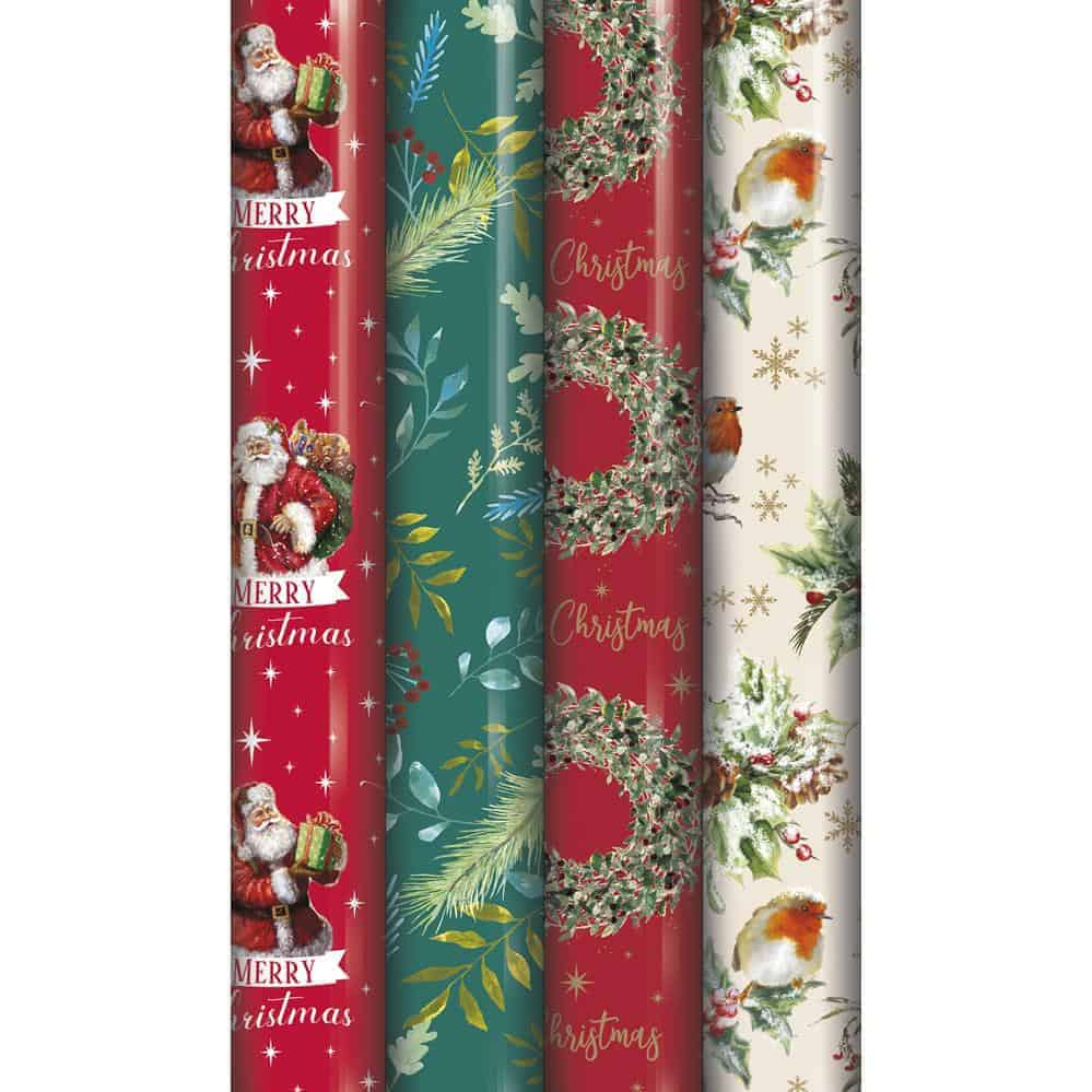8M Traditional Xmas Wrapping Paper