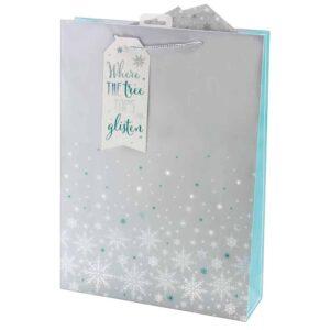 X-L Xmas Bag Snowflakes