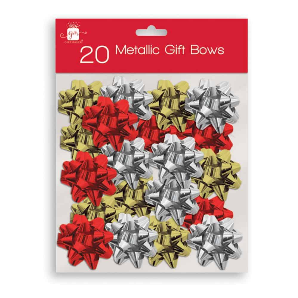 20 Metallic Gift Bows