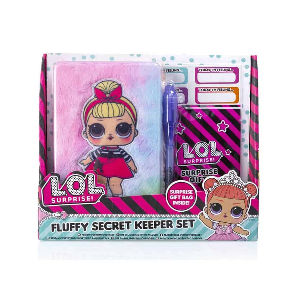 Lol Mini Fluffy Diary Set