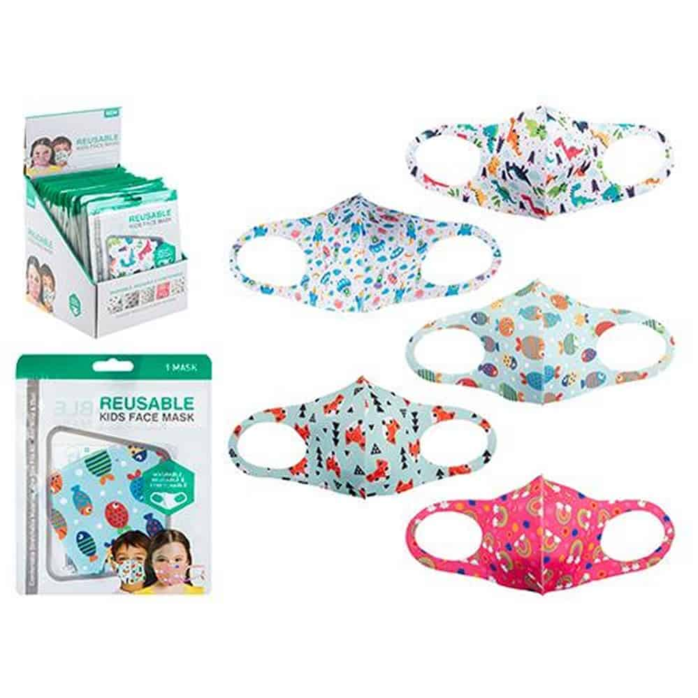 Kids Reuseable Stretch Face Masks