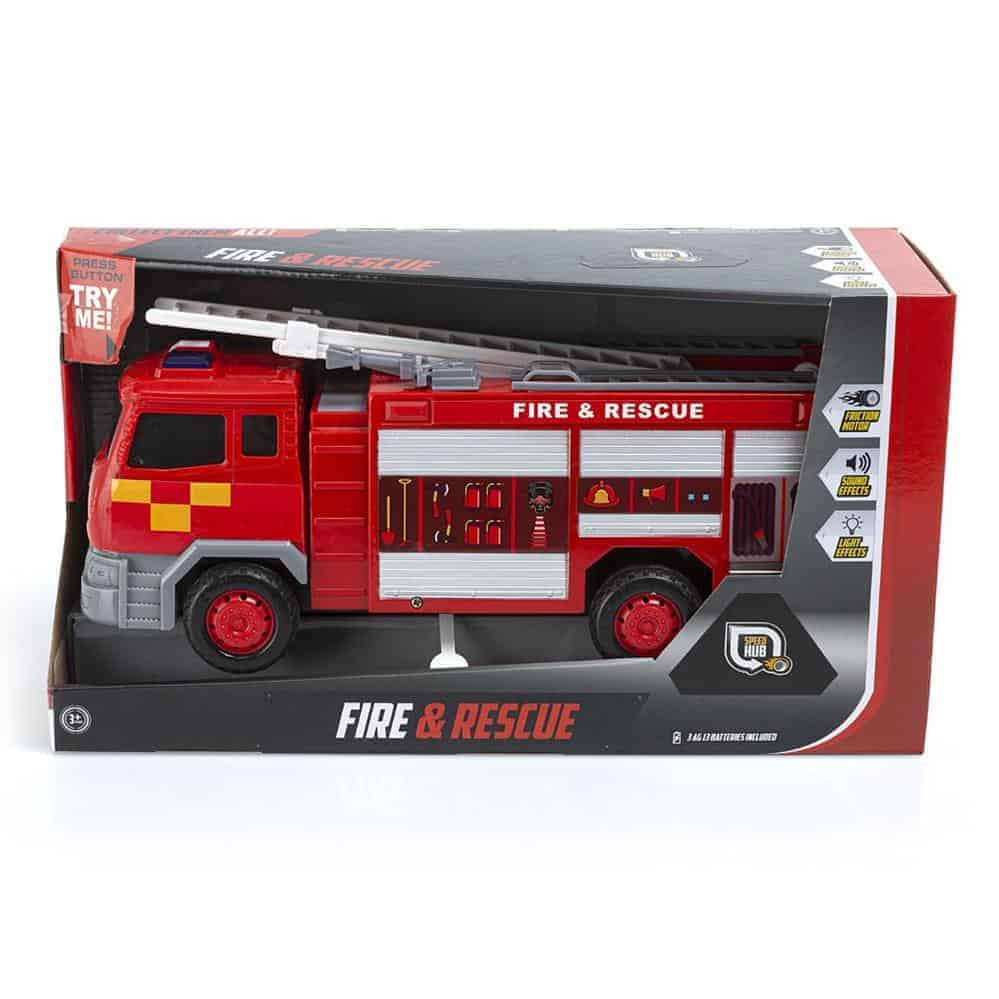 Fire+Rescue Fire Engine-Light+Sounds